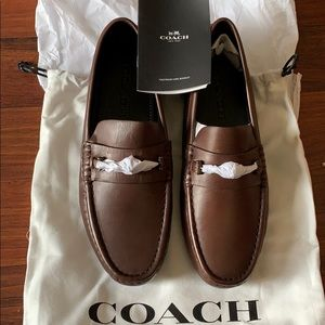COACH Men's Crosby Turnlock Leather Drivers